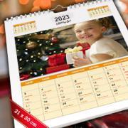 A4 méretű egyedi fényképes naptárak
