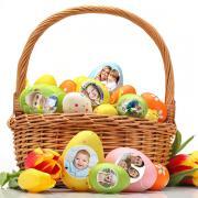 Egyedi fényképes húsvéti tojás fólia - 5 db.