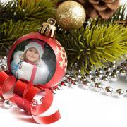 Egyedi fényképes karácsonyfadísz fólia - 5 db.