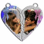 Szív alakú páros kulcstartó