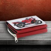 Prémium egyedi pénztárca - piros színben