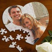 Egyedi fényképes szív alakú puzzle