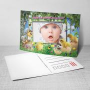 Egyedi fényképes húsvéti képeslap 10.