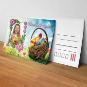 Egyedi fényképes húsvéti képeslap 13.
