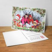 Egyedi fényképes karácsonyi képeslap 7.