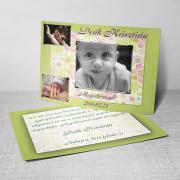 Megérkeztem kártya 10. - Baba születési értesítő képeslap