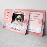 Megérkeztem kártya 11. - Baba születési értesítő képeslap