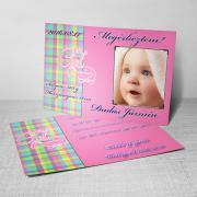 Megérkeztem kártya 14. - Baba születési értesítő képeslap