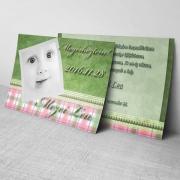 Megérkeztem kártya 15. - Baba születési értesítő képeslap