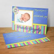 Megérkeztem kártya 16. - Baba születési értesítő képeslap
