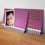 Megérkeztem kártya 17. - Baba születési értesítő képeslap