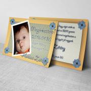 Megérkeztem kártya 19. - Baba születési értesítő képeslap