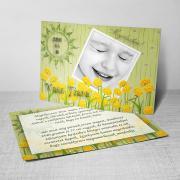 Megérkeztem kártya 2. - Baba születési értesítő képeslap