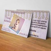 Megérkeztem kártya 21. - Baba születési értesítő képeslap