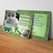 Megérkeztem kártya 22. - Baba születési értesítő képeslap
